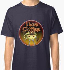 I love Coffee by Valxart Classic T-Shirt