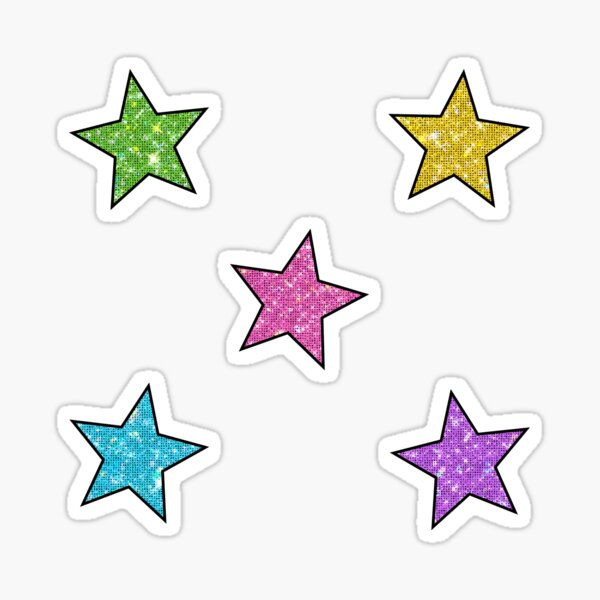 sparkly stars Sticker
