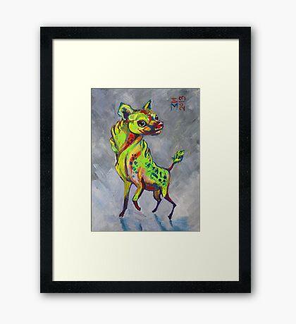 Happy Hyena Framed Print