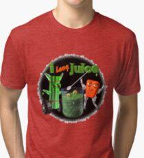 I Love Juice w/ celerybot by Valxart    Tri-blend T-Shirt