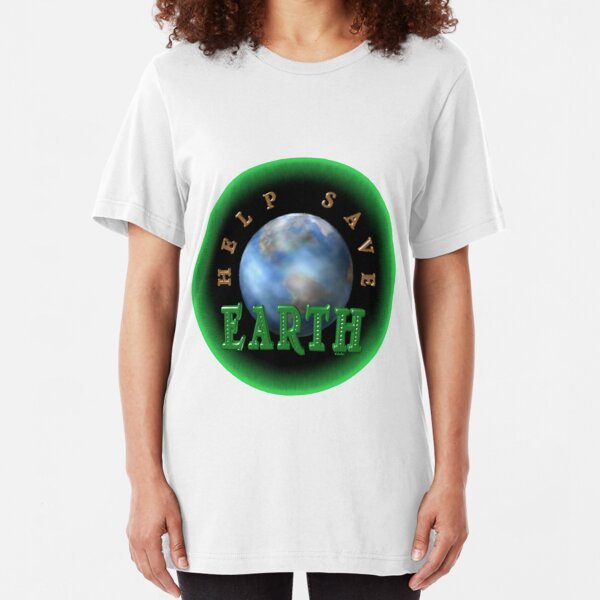 Help Save the Earth by Valxart  Slim Fit T-Shirt