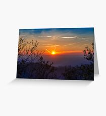 Sunset time over the town Greeting Card