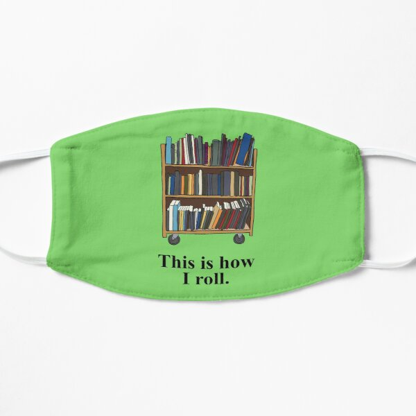 Funny Librarian, Library Assistant Gift Flat Mask