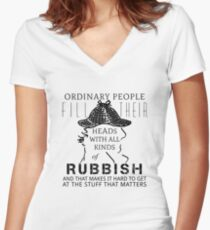 Ordinary people 2.0 Women's Fitted V-Neck T-Shirt