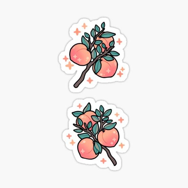 peaches Sticker