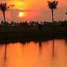 Cambodian Sunset by Laurel Talabere