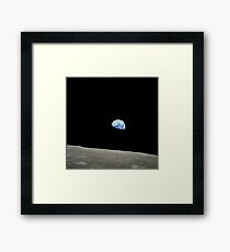 Apollo 8 NASA Moon Mission Earthrise Framed Print