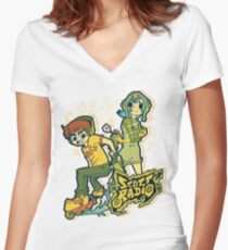 Scott Radio!! Women's Fitted V-Neck T-Shirt
