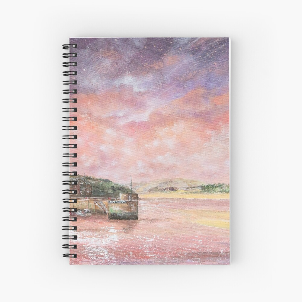Padstow Harbour, North Cornwall Art Spiral Notebook