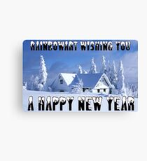 RAINBOWART WISHING YOU A HAPPY NEW YEAR Canvas Print