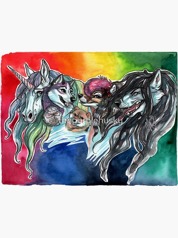 A Colorful Cast by thepurplehusky