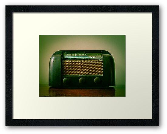 Old Broken Vintage Radio by Carlos Restrepo