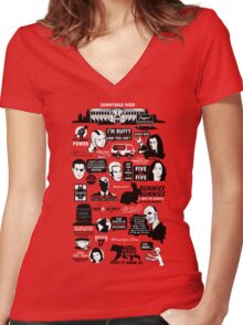 Quotes From the Hellmouth Women's Fitted V-Neck T-Shirt