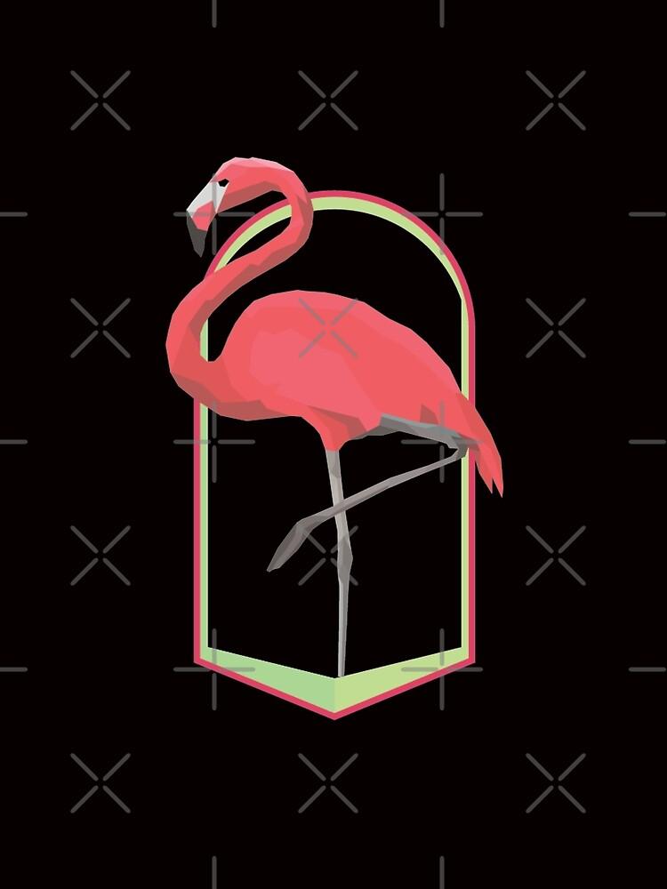 Pink Geometric Flamingo by JoyAndValorLife