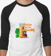 Juice for your health by Valxart  Men's Baseball ¾ T-Shirt