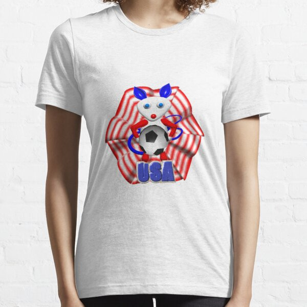 USA Soccer ball w/ mouse by Valxart Essential T-Shirt