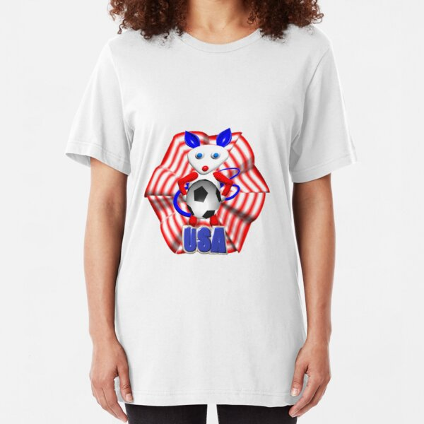USA Soccer ball w/ mouse by Valxart Slim Fit T-Shirt