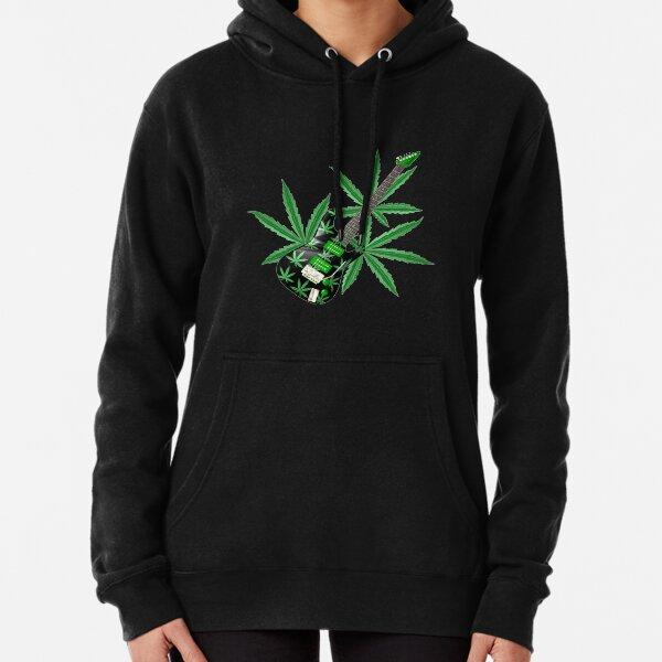 Cannabis leaf guitar by Valxart Pullover Hoodie