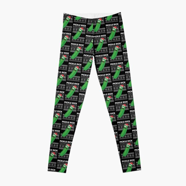 Pickle Rick Funny Ugly Christmas Sweater  Leggings