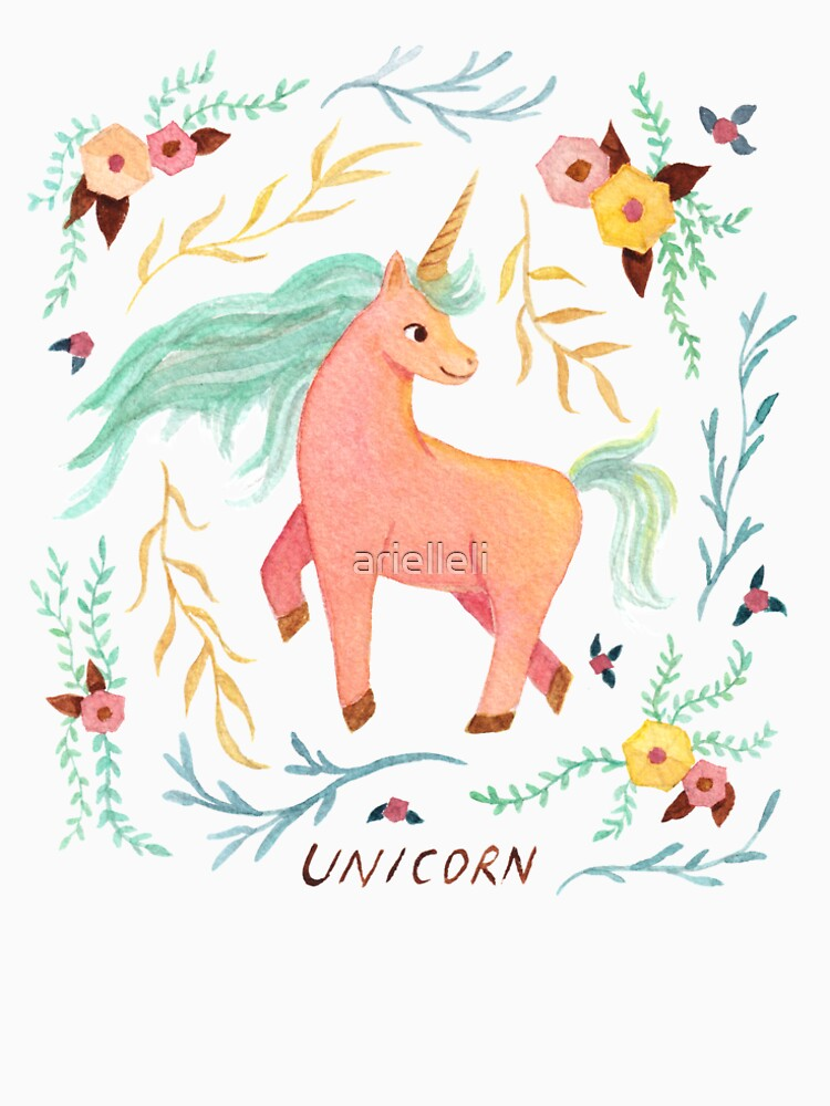 Unicorn, Plants and Flowers by arielleli