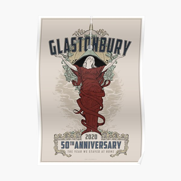 Glastonbury 50th Anniversary Poster