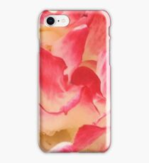 Pink And Yellow Rose Petals iPhone Case/Skin