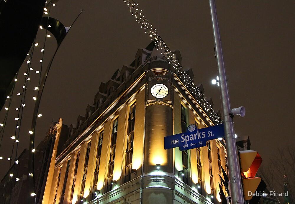 Sparks Street at Night, Ottawa Ontario by Debbie Pinard