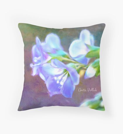 Painted Greek Valerian Blossoms Throw Pillow