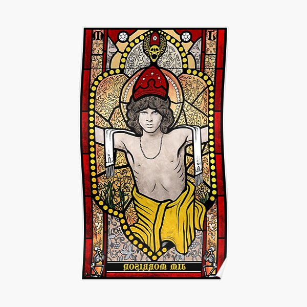 Jim Morrison Stained Glass Poster