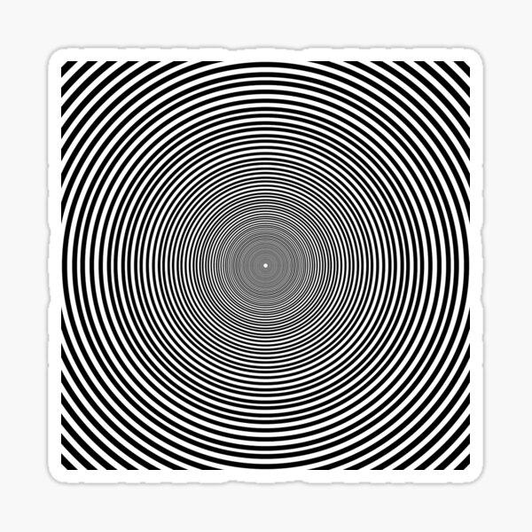 Optical illusion Concentric Circles Geometric Art, концентрические круги Sticker
