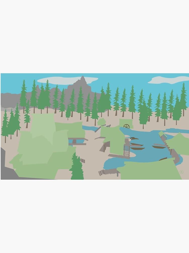 Skyrim Morthal Landscape Vector Artwork by felixt518