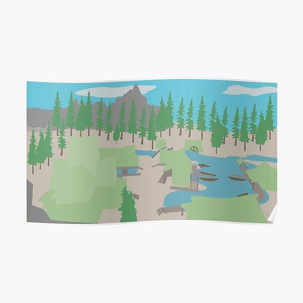 Skyrim Morthal Landscape Vector Artwork Poster