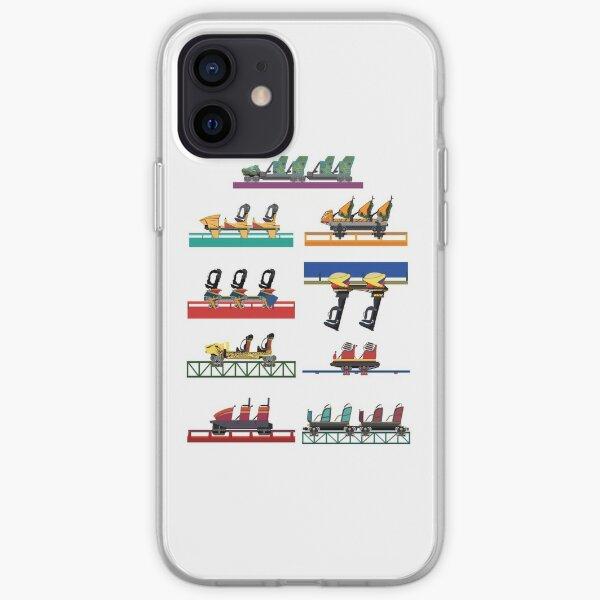 Busch Gardens Coaster Cars V2 Design (with Iron Gwazi!) iPhone Soft Case