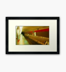 Warped El Tunnel Framed Print