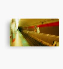 Warped El Tunnel Canvas Print