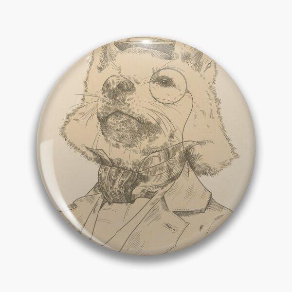 Victorian Pomsky Pin