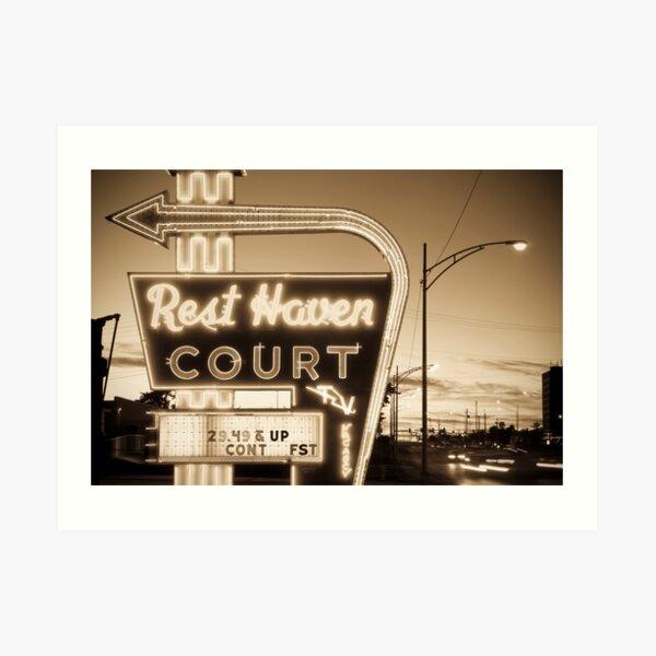 Rest Haven Court Motel. (Alan Copson ©) Art Print