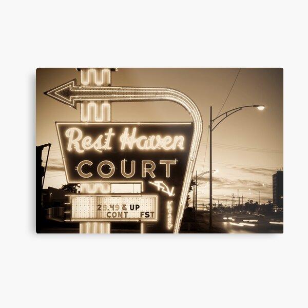 Rest Haven Court Motel. (Alan Copson ©) Metal Print