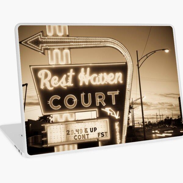 Rest Haven Court Motel. (Alan Copson ©) Laptop Skin