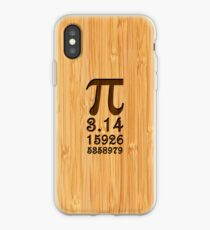 Bamboo Look & Engraved Pi Numbers iPhone Case