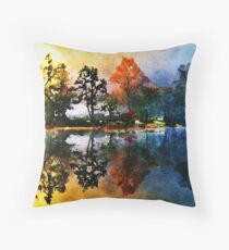 Reflections At Tallman Pond Throw Pillow