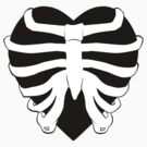 Skeletal Ribbed Heart Graphic by Drayton-Dragon