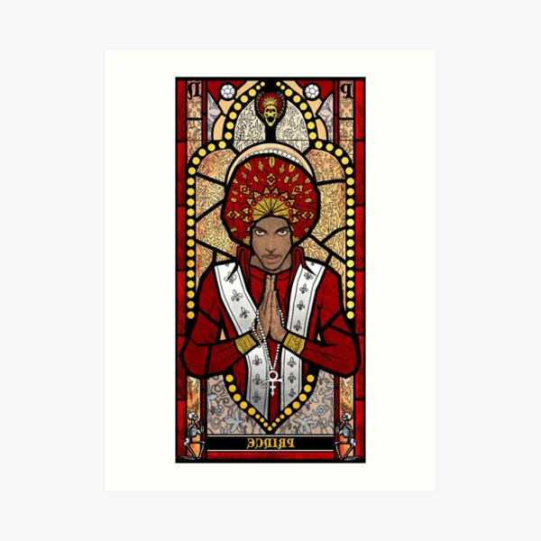 Prince Stained Glass Art Print