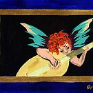 Angel Worships God by Anne Gitto