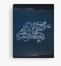 Thoughts Are Stars Canvas Print