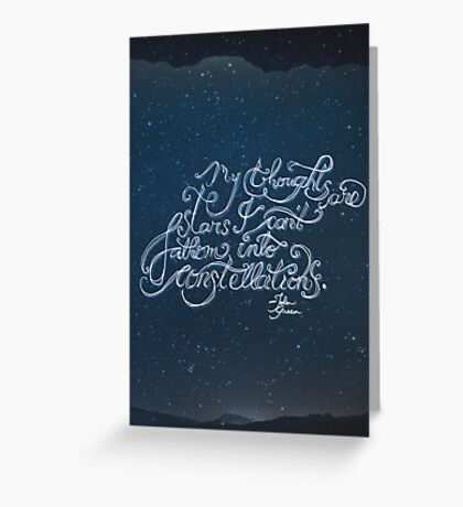 Thoughts Are Stars Greeting Card