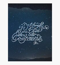 Thoughts Are Stars Photographic Print