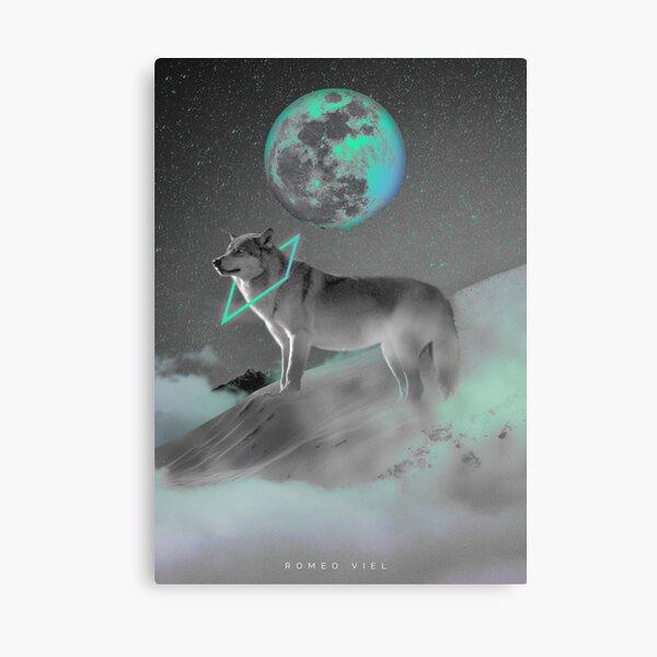 Lune lupine Impression sur toile