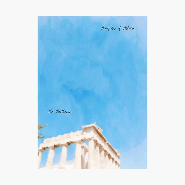 Acropolis of Athens Photographic Print