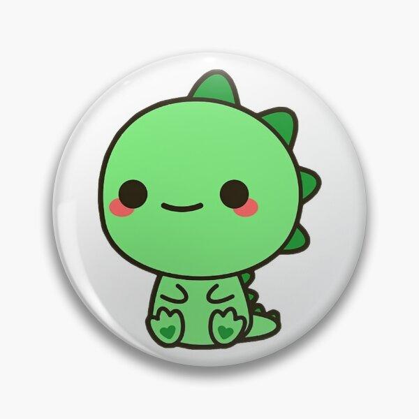 Kawaii Dino Girl Chibi Pin XL Grade B